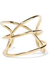 Jennifer Fisher Abstract Line Gold Plated Cuff