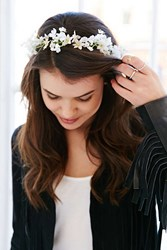 Urban Outfitters Island Falls Flower Crown White