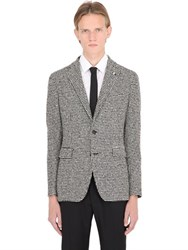 Tagliatore Wool Blend Houndstooth Jacket