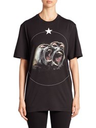 Givenchy Monkey Graphic Cotton Tee Black