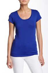 Susina Short Sleeve Scoop Neck Tee Petite No Color