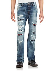 Cult Of Individuality Washed Distressed Five Pocket Jeans Denki Wash