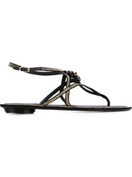 Rene Caovilla Crystal Embellished Sandals Black
