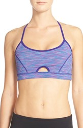 Women's Zella 'Sundown' T Back Sports Bra Purple League