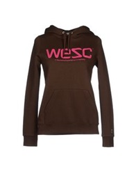 Wesc Sweatshirts Dark Brown