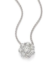 Hearts On Fire Beloved Diamond And 18K White Gold Floral Pendant Necklace