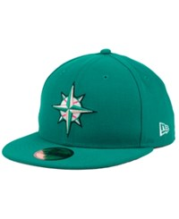 New Era Seattle Mariners Banner Patch 59Fifty Cap Teal