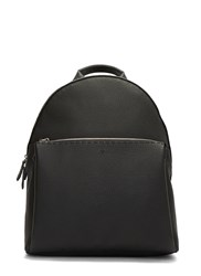 Fendi Zaino Pebble Grained Leather Backpack Black