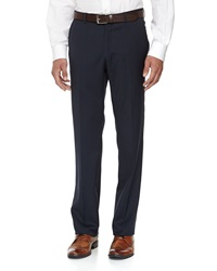 Neiman Marcus Skinny Wool Dress Pants Navy
