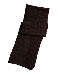 Calvin Klein Tweed Scarf With Solid Trim Black Cherry