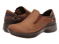 Naot Footwear Nautilus Saddle Brown Leather Crazy Horse Leather Carob Brown Leather Women's Slip On Shoes
