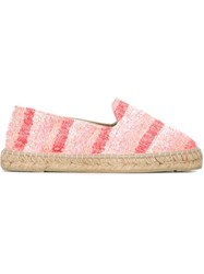 Manebi Manebi Striped Espadrilles Pink And Purple