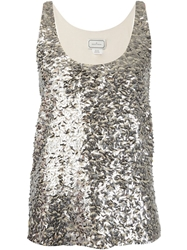 By Malene Birger Sequin Embroidered Tank Top
