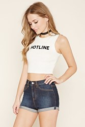Forever 21 Hotline Graphic Crop Top