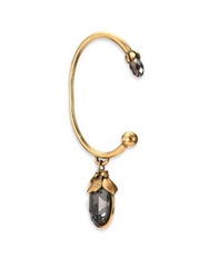 Alexander Mcqueen Mourning Flower Single Ear Cuff Gold