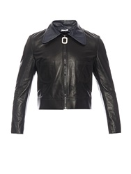 J.W.Anderson Two Tone Leather Cropped Jacket