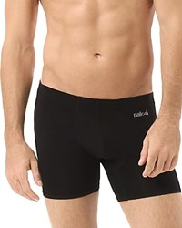 Naked Luxury Stretch Microfiber Boxer Briefs Black