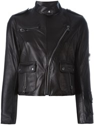 Marc Jacobs Cropped Biker Jacket Black