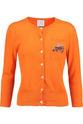 Stella Jean Knitted Cotton Cardigan Orange