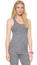 Beyond Yoga Space Dye Performance Maternity Long Cami Black White