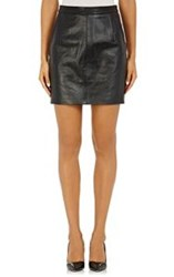 Surface To Air Lambskin Miniskirt Black Size 34 It