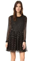 Rebecca Minkoff Peterson Chiffon Dress Black Gold