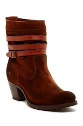 Frye Jane Strappy Short Boot Brown
