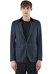Lanvin D8 Slimfit Jacket With Contrast Collar Black