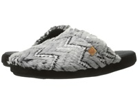 Acorn Scuff Grey Zig Zag Women's Slippers Brown