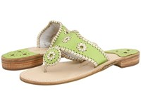 Jack Rogers Palm Beach Navajo Platinum Lime Platinum Women's Sandals Green