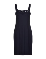 Vdp Collection Knee Length Dresses Dark Blue