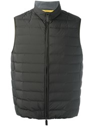 Canali Padded Vest Green