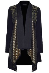 James Lakeland Gold Insert Drape Cardigan Black Multi