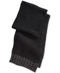 Alfani Men's Solid Knit Scarf Only At Macy's Black