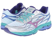 Mizuno Wave Catalyst White Hyacinth Violet Atlantis Women's Running Shoes