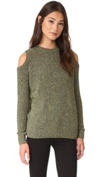 Rebecca Minkoff Page Cold Shoulder Sweater Light Olive