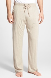 Daniel Buchler Silk And Cotton Lounge Pants Taupe Heather