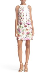 Ted Baker Women's London 'Lucilee' Floral Print Shift Dress Cream