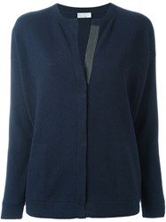 Brunello Cucinelli V Neck Cardigan Blue