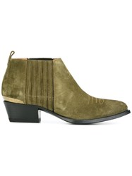Buttero Pointed Toe Boots Green