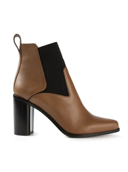 Chloe Chloe Pointed Toe Ankle Boots Brown