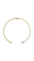 Rachel Zoe Sophia Imitation Pearl Collar Necklace Gold Pearl