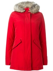 Woolrich Trimmed Hood Padded Parka Red