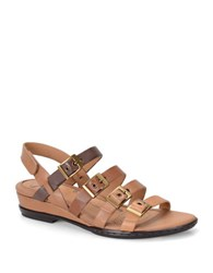 Sofft Sapphire Multi Strap Leather Sandals Brown