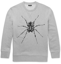 Lanvin Bead Embellished Cotton Jersey Sweatshirt Gray