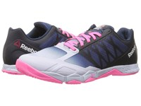Reebok Crossfit Speed Tr Lucid Lilac Blue Ink Collegiate Navy Poison Pink Black Women's Cross Training Shoes White