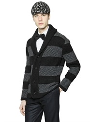 Gabriele Pasini Striped Wool And Mohair Blend Cardigan