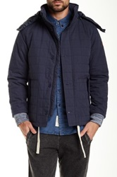 Native Youth Faux Fur Trim Quilted Icelandic Parka Blue