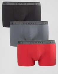 Esprit Trunks 3 Pack Red