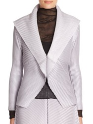 Issey Miyake Pleated Evening Jacket Silver Black